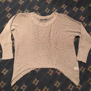 LF Millau Sheer Cropped Sweater with Openish Back